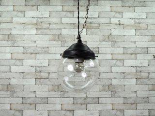 道具屋 DOUGUYA ガラスシェード ペンダントライト 透明ガラス 球 丸型 定価:\26,400- ●
