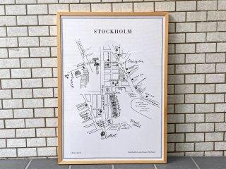 オーレ・エクセル Olle Eksell ポスター ストックホルム STOCKHORM 額装 北欧 スウェーデン ■