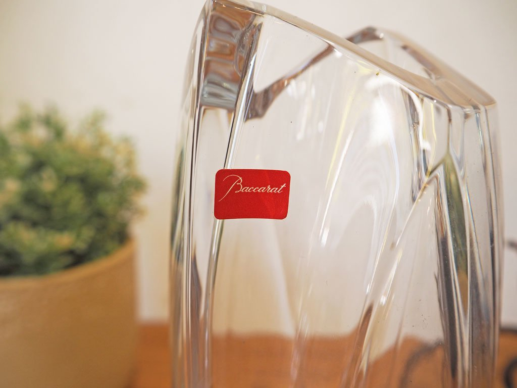 バカラ Baccarat ジベルニー フラワーベース ロベール・リゴ RRigot コレクション 花瓶 25cm クリスタル ガラス 未使用展示品★
