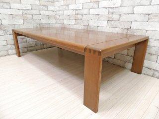 カンディハウス CONDE HOUSE ボルス BOLS リビングテーブル ナラ材 センターテーブル ローテーブル ブラウン ●