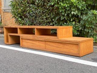 朝日木材加工 ボスコ BOSCO スライドAVボード ローボード テレビ台 ニヤトー無垢材 クラフト家具 ■