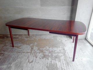 北欧ビンテージ ローズウッド 伸長式 EX ダイニングテーブル 北欧家具 ♪