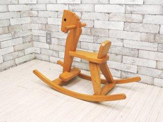 ビンテージ 木馬  ロッキング ホース ビーチ材  ●