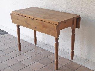アムス テーブル&チェアーズ ams table&chairs オールドパイン無垢材 バタフライテーブル  ダイニングテーブル ワークテーブル UKカントリー ◇