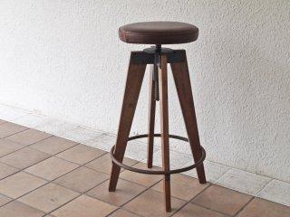 ジャーナルスタンダードファーニチャー Journal Standard Furniture シノンハイスツール CHINON HIGH STOOL 本革 定価\39,600- ◇