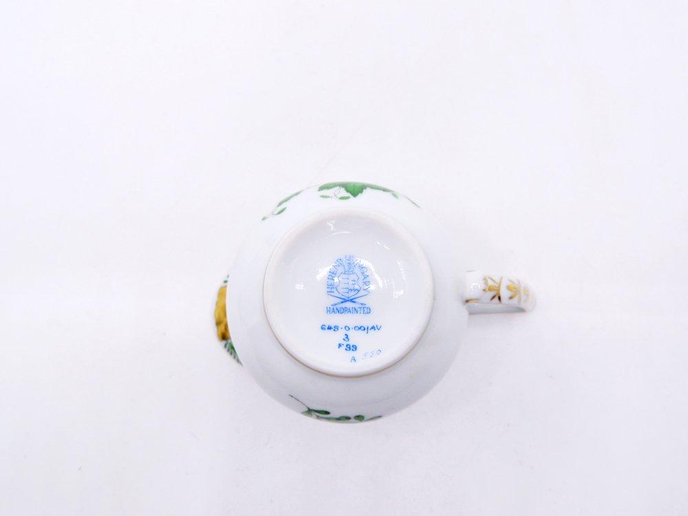 ヘレンド HEREND HVNGARY アポニーグリーン クリーマー&シュガーポット 2点セット ハンドペイント 白磁食器 ハンガリー ●
