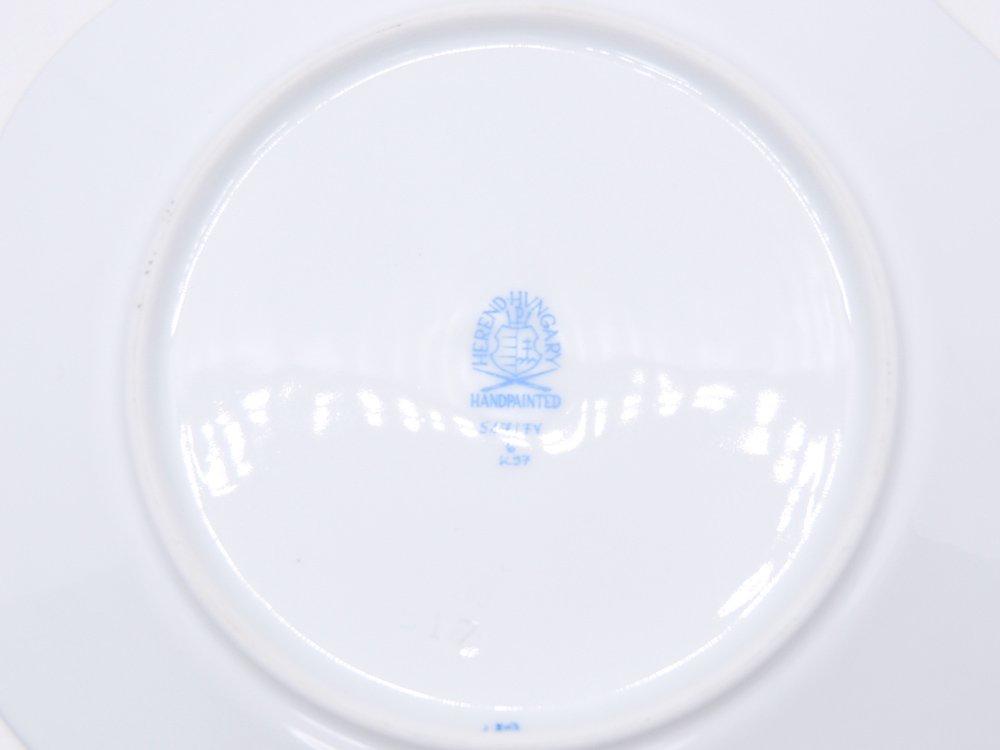ヘレンド HEREND HVNGARY インドの華 デザートプレート Φ19cm ハンドペイント 白磁食器 ハンガリー A ●