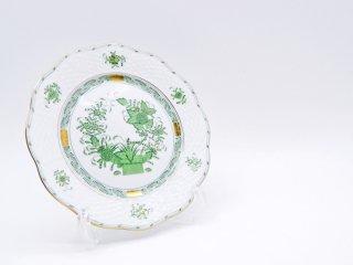 ヘレンド HEREND HVNGARY インドの華 デザートプレート Φ19cm ハンドペイント 白磁食器 ハンガリー B ●