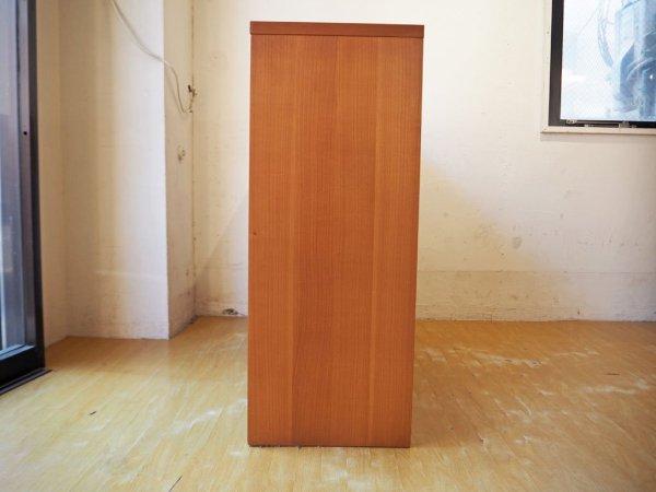 ウニコ unico ジーン GENE オープンシェルフ 2段4列 本棚 チェリー材 北欧スタイル サイドボードシェルフ 廃盤 ★