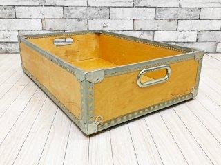 北欧ビンテージ Scandinavian Vintage 収納ボックス プライウッド スウェーデン軍 ジャーナルスタンダードファニチャー購入 J.S.F ●