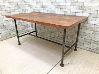 ギャラップ GALLUP 古材×アイアン ダイニングテーブル ワークテーブル W150 インダストリアル  ●