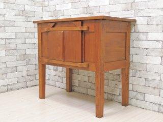 アジアンファニチャー Asian Furniture サイドキャビネット リビングボード アジアンチーク材 リゾートスタイル バリ家具 ●