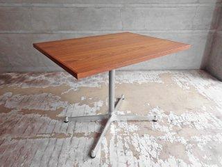 グリニッチ greeniche オリジナルテーブル original table カフェテーブル チーク材 Xレッグ W80 定価42,900円 ♪