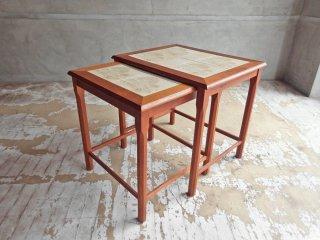TOFTEN mobelfabrikke チーク材 タイルトップ ネストテーブル サイドテーブル Side table 北欧 ビンテージ♪