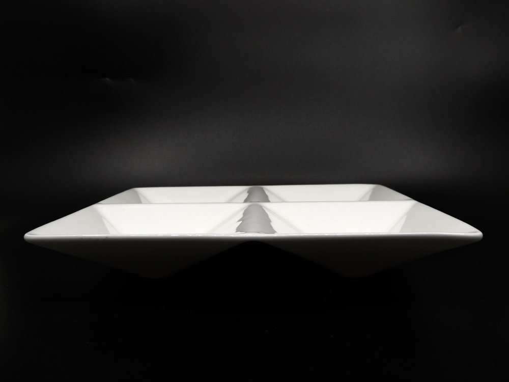 アラビア ARABIA KF1 ロケロバティ Lokerovati ホワイト オードブルディッシュプレート 復刻版 箱付 カイ・フランク KAJ FRANCK フィンランド 北欧食器 ●