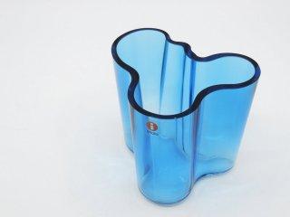 イッタラ iittala アルヴァ・アアルト コレクション Alvar Aalto Collection ベース ブルー系 95mm フィンランド 北欧雑貨 ●