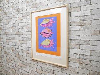 ケン ・ ドーン Ken Done 『 Three Shells 』 ポスター 103 / 105 シルクスクリーン フレーム付き 箱付き ●