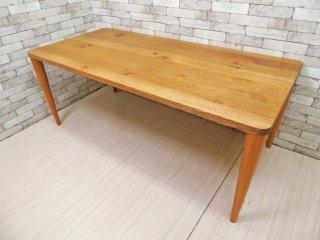 飛騨産業 HIDA 森のことば オーク無垢材 長方形 ダイニングテーブル w180 佐々木敏光 ●