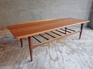 バセットファニチャー Bassett Furniture センターテーブル コーヒーテーブル ウォールナット ミッドセンチュリー USビンテージ ♪