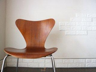 フリッツハンセン Fritz Hansen セブンチェア Seven Chair アルネヤコブセン Arne Jacobsen 希少 チーク材 北欧 デザイナーズ家具 ◎