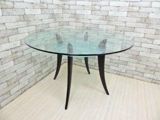 カッテラン イタリア cattelan italia ブレイド Blade ダイニングテーブル ガラス ラウンド Φ119cm モダンデザイン ●