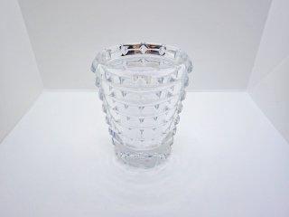 バカラ Baccarat アルルカン フラワーベース 花瓶 クリア クリスタルガラス フランス ♪