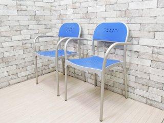 metal mobel arredo アルミパイプ アームチェア スタッキングチェア F Gerac 2脚セット サンドラーシーティング Sandler seating●