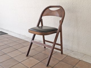 アクメファニチャー ACME Furniture カルバーチェア CULVER CHAIR フォールディングチェア 折畳 ラバーウッド 美品 ◇