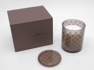 ルイヴィトン Louis Vuitton モノグラム アロマキャンドル BOUGIE PARFUMEE 元箱付 未使用 2009年 VIP限定 ノベルティ 希少 ●