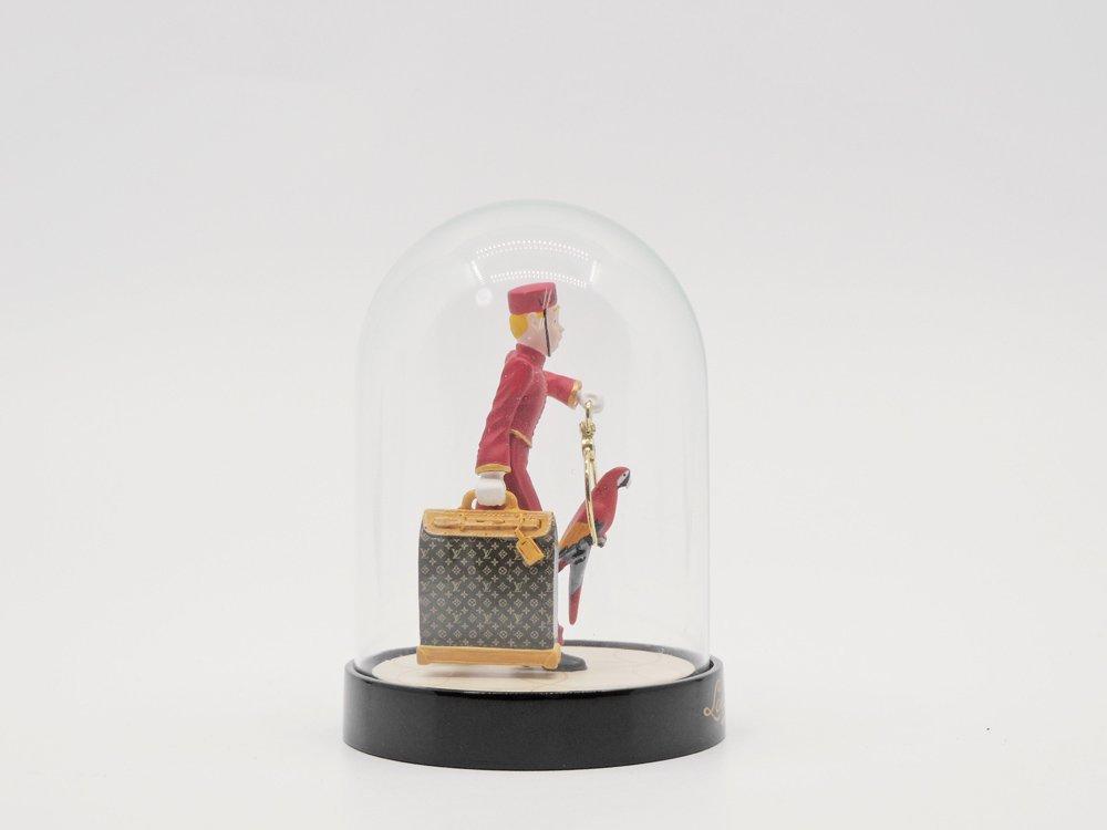ルイヴィトン Louis Vuitton ページボーイ ポーター ドーム型オブジェ ガラス 置物 元箱付 2012年 VIP限定 ノベルティ 希少 ●