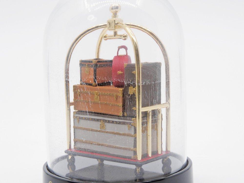 ルイヴィトン Louis Vuitton バゲージカート ドーム型オブジェ ガラス 置物 元箱付 2011年 VIP限定 ノベルティ 希少 ●