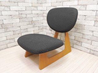 天童木工 TENDO 低座イス ローチェア 座椅子 チャコールグレー ナラ柾目 長大作 デザイン 和モダン ●