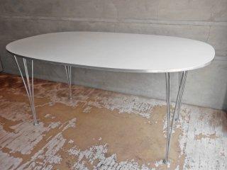 フリッツハンセン Fritz Hansen Bテーブル スーパー楕円 ダイニングテーブル ホワイト W150cm ピートハイン ブルーノマットソン アルネヤコブセン デンマーク 北欧家具 ♪