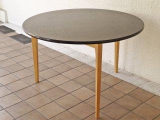イデー IDEE ダイニングテーブル IEFT-0442 DCブラウン ラウンド タモ材天板 3本脚 長大作デザイン 参考価格¥151,800- ◇