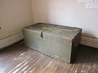 USビンテージ US vintage ミリタリートランク ミリタリーボックス ローテーブル 木製  軍放出品◎