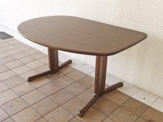 カリモク karimoku シェリー ダイニングテーブル ウォールナット材 ダークブラウン W125cm モダンデザイン ◇