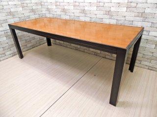 イタリアンモダンデザイン Italian modern ダイニングテーブル エグゼクティブテーブル W220cm 店舗什器 ●