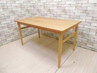 ウニコ unico シグネ SIGNE ダイニングテーブル アッシュ材 ナチュラル W140 定価: \70,180- ●