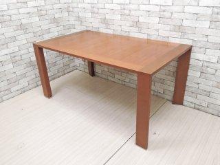 クラスティーナ Crastina アルベロ ダイニングテーブル ウォールナット材 W140.5cm モダンデザイン 参考定価:約10万円 ●