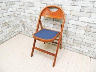 昭和木工 SHOWA MOKKO 古い木味の折り畳み椅子 フォールディングチェア ジャパンビンテージ Vintage レトロ ●