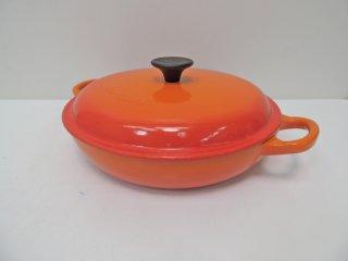ルクルーゼ LE CREUSET ビュッフェ キャセロール Buffet Casseerole オレンジ Φ22cm  ●