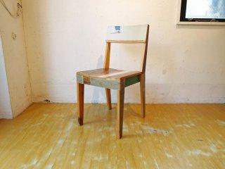 ピート・ヘイン・イーク Piet Hein Eek スクラップウッド チェア Scrapwood Chair オランダ CIBONE取扱 定価9.3万 ★
