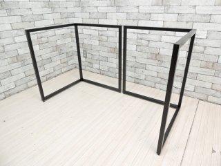 ビスレー BISLEY Lフット スチールフレーム ブラック デスク脚 英国 定価¥52,800- ●