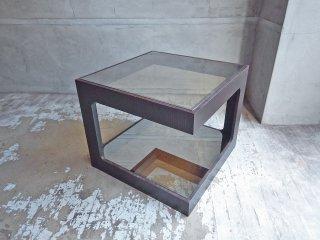 モーダエンカーサ moda en casa ダイス50 daice50 コーヒーテーブル サイドテーブル ウォールナット材 ミラーガラス 定価:\31,900- ♪