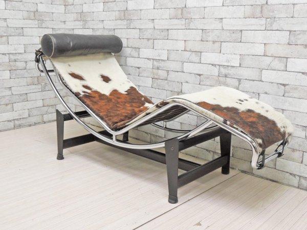 ル・コルビジェ Le Corbusier LC4 シェーズロング 長椅子 ソファ ハラコレザー リプロダクト デザイナーズ家具 モダン ●