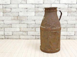 ジャパンビンテージ Japan Vintage ミルク缶 牛乳缶 ディスプレイ ガーデニング 店舗什器 インダストリアル ジャンク品 ●