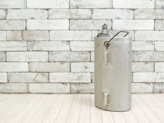 ビンテージ Vintage アルミ ウォーターボトル ガーデニング アウトドア ディスプレイアイテム インダストリアル ●