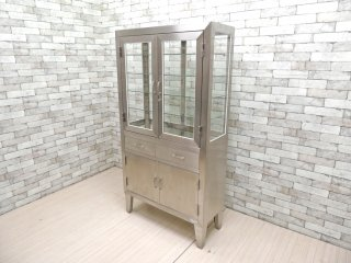 インダストリアル 医療用 ステンレス ケビント ドクターキャビネット 戸棚 飾り棚 店舗什器 ●