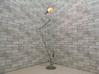 ジェルデ JIELDE ビンテージ 3アーム フロアランプ FLOOR LAMP インダストリアル シルバーメタル ●