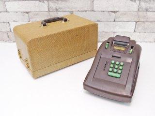 ビクター VICTOR 加算器 Adding Machine ブラウン ベークライト レジスター 収納ボックス付  店舗什器 ディスプレイアイテム 1930s ビンテージ ジャンク品 ●